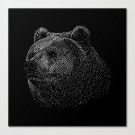 Bear Grizzly Canvas Print
