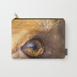Eye details of a brown dog Carry-All Pouch