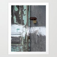 Hidden within Santorini, Greece Art Print