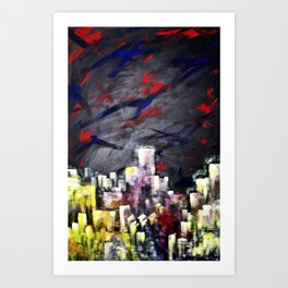 HighTopCity Art Print
