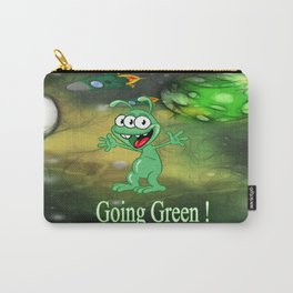 Monster Alien Cartoon in Alien Space Carry-All Pouch