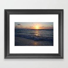 sunrise over the ocean Framed Art Print