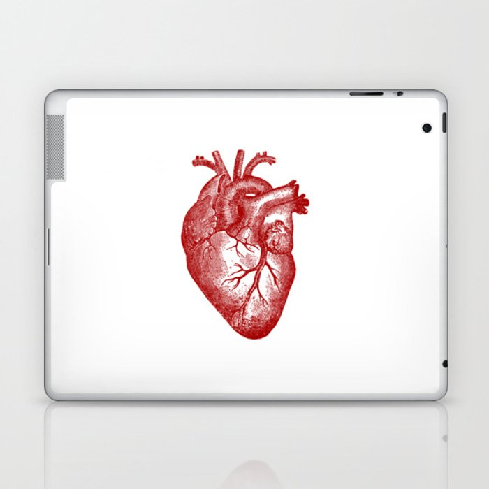 Vintage Heart Anatomy Laptop & iPad Skin by stilleskyggerart | Society6