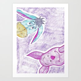 eeyore and piglet Art Print