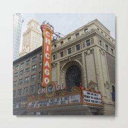 Chicago Theatre, Fine Art Photography Metal Print