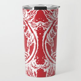 twin dancing stags of asheville from a wood carving Travel Mug
