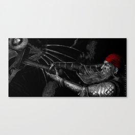 Dwarf vs. Hook Horror  Canvas Print