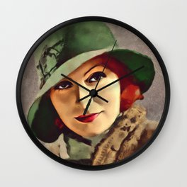 Greta Garbo, Hollywood Legend Wall Clock