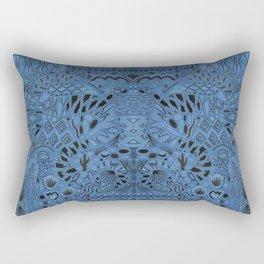 Night Blue Snake Rectangular Pillow
