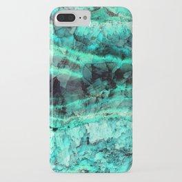 Turquoise onyx marble iPhone Case