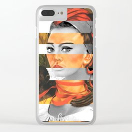 F.K.'s Self Portrait with Monkey & Sophia Loren Clear iPhone Case