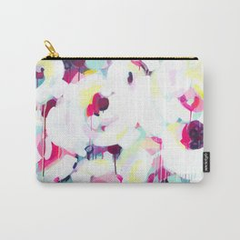 Bloom - Abstract Painting by Jen Sievers Carry-All Pouch