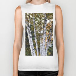 Fall birches Biker Tank