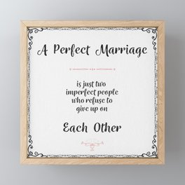 A perfect marriage Framed Mini Art Print