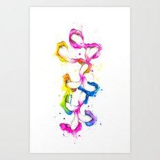 Dribble Art Print