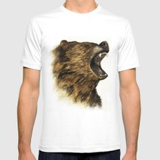 The Grizzly Mens Fitted Tee White MEDIUM