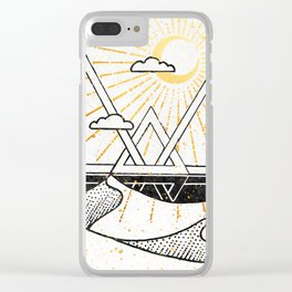 Triangle Dunes Inktober :: Destiny Laced Beneath The Deserts Clear iPhone Case