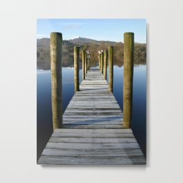Boat Dock at Derwentwater Metal Print