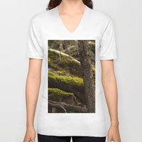 moss V-neck T-shirts featuring Moss by Dana E