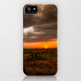 West Texas Sunset - Colorful Landscape After Storms iPhone Case