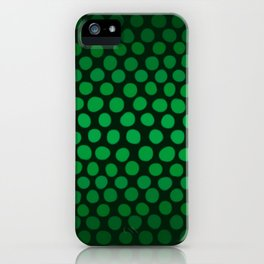 Emerald Green Ombre Dots iPhone Case