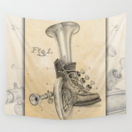 Shoe Horn Reinvention Drawing Wall Tapestry