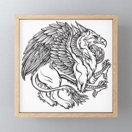 Griffin Framed Mini Art Print