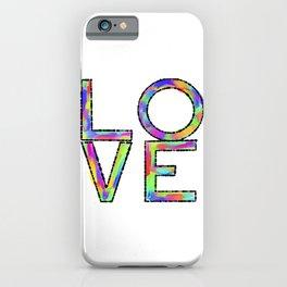 Pop Art Multicolored Love iPhone Case