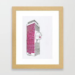 High rise birdhouse. Framed Art Print