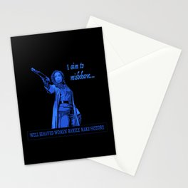 I Aim To Misbehave (Blue) Stationery Cards