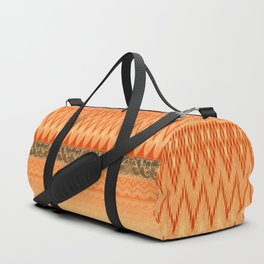 crochet mixed with lace in warm mood Duffle Bag