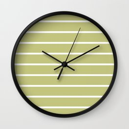avocado stripes Wall Clock