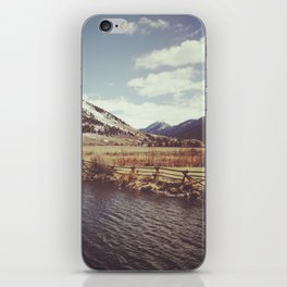 Looking Over the Creek at the Gros Ventre Mountain Range, Wyoming iPhone Skin