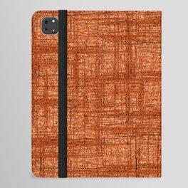 Textured Tweed - Rust Orange iPad Folio Case