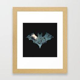 Batty Cutout Framed Art Print