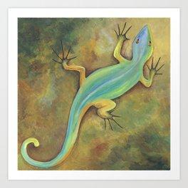 Desert Lizard Art Print
