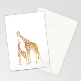 Mother and Baby Giraffes Stationery Cards
