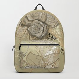 50 Shades of lace Gold Gold Backpack