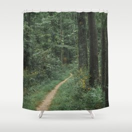The Great Green Adventure Shower Curtain