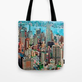 Stressless - New York City Skyline - Empire State Building Photograph on Canvas by Serge Mendjisky Tote Bag