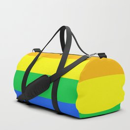 Rainbow Pride Horizontal Stripe Pattern Duffle Bag