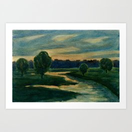 Lakeland Dawn Art Print