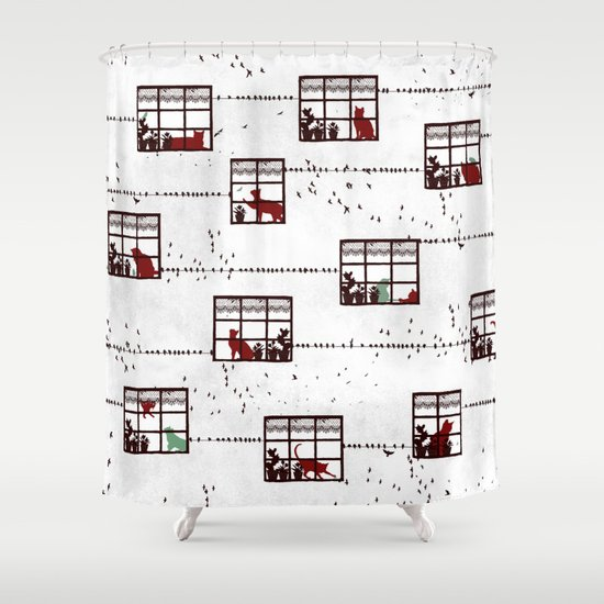 Cat Moments Shower Curtain
