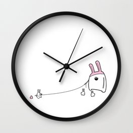 take bunny for a walk Wall Clock