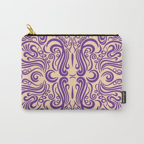 Vintage Ornaments Violet Carry-All Pouch
