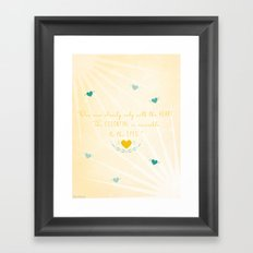 One sees clearly only with the heart Framed Art Print