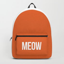 Meow Funny Quote Backpack