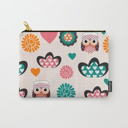 Owls and hearts Carry-All Pouch