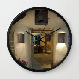 Enchanted Evening in New Mexico Wall Clock