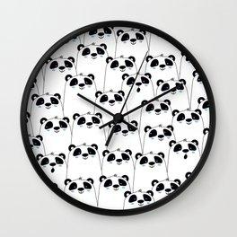 Pandas everywhere Wall Clock